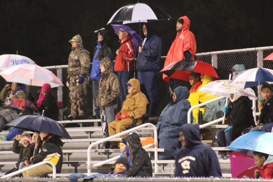 The William Chrisman fan section was accounted for, despite heavy rain and a Royals World Series game.