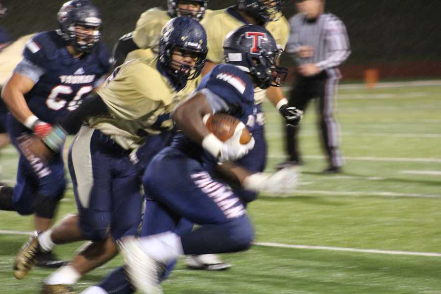 Jordan Salima and the Truman running game got the ball moving. Salima took a direct snap in several plays in the first half.