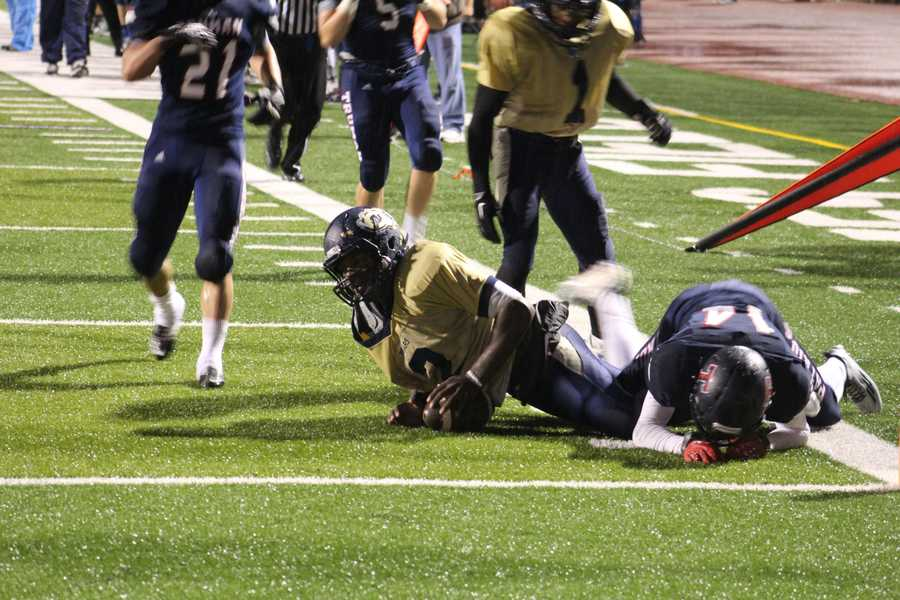 William Chrisman scored a touchdown late and connected on a 2-point conversion. The Bears trailed 26-8 late.