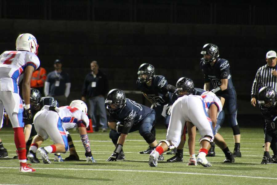 Bllue Valley North hosted Olathe North in a playoff game Friday night.