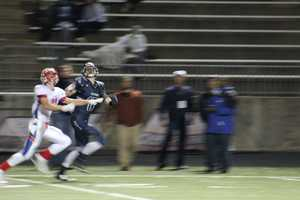 Olathe North's defense held strong, as Blue Valley North threatened to score on two late possessions.