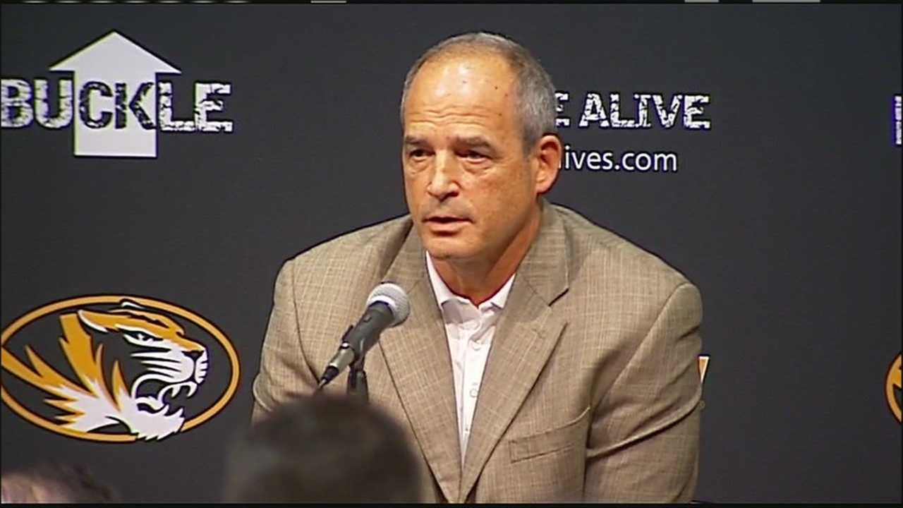 With the football team's support of a student hunger strike credited with helping force the resignations of top leaders at the University of Missouri, Coach Gary Pinkel and Athletic Director Mack Rhodes explain their stance.
