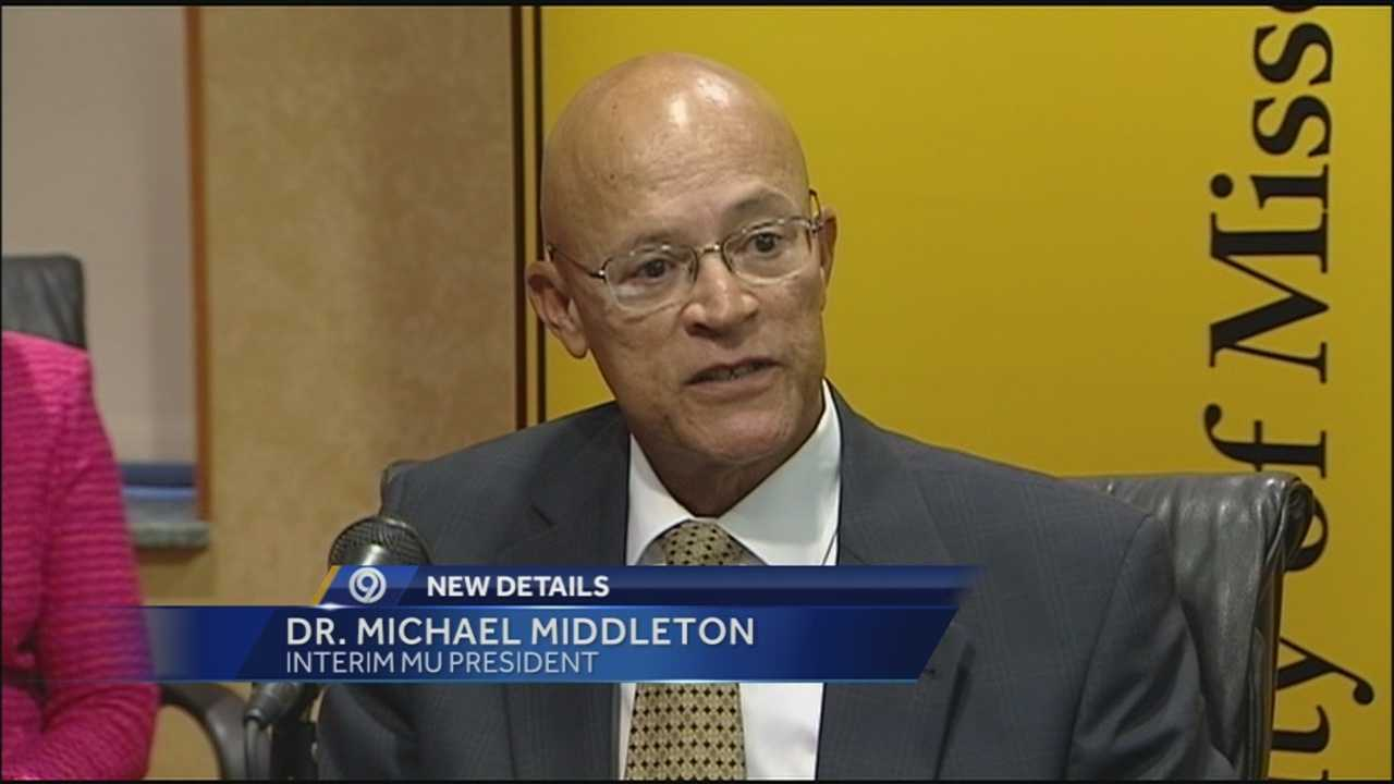 Dr. Michael Middleton, the new interim president of the University of Missouri system says it's time to have a meaningful conversation about racial issues and get past them.