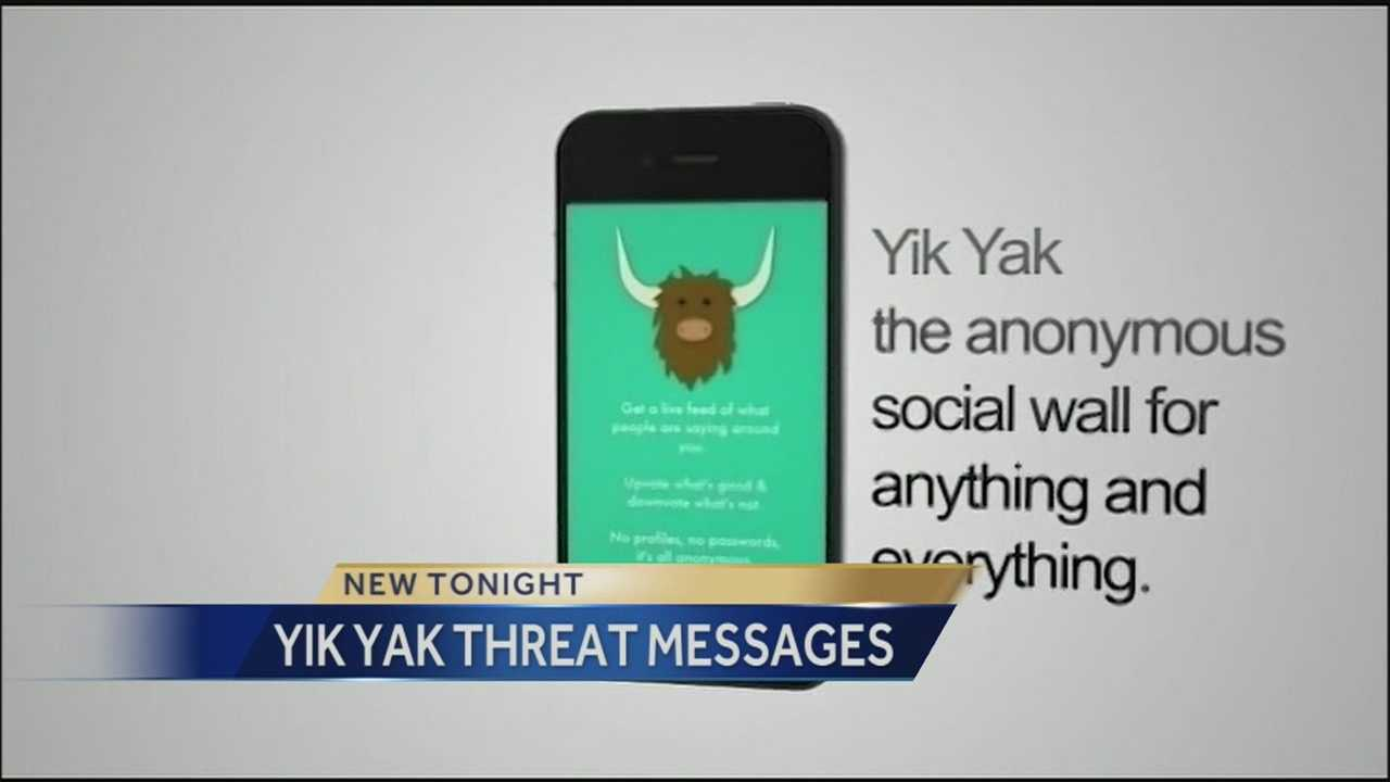 The popular social media platform Yik Yak has received new attention this week after threatening messages for college campuses appeared on it.