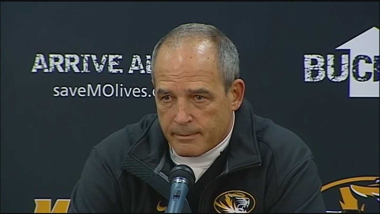 After Missouri defeated BYU at Arrowhead Stadium Saturday, Coach Gary Pinkel said he was proud of the way his team has fought adversity and supported each other during a tough week, one that including Pinkel's retirement announcement.
