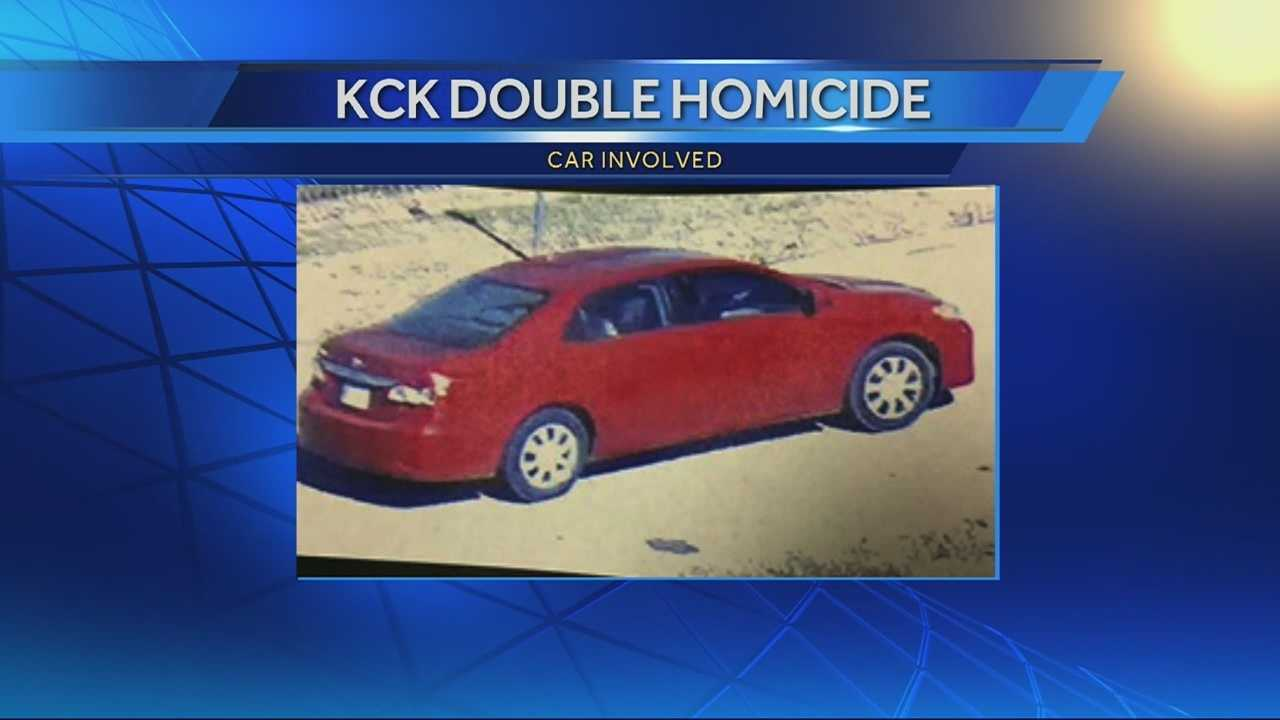 Police have released photos of a car they believe is connected to the fatal shootings of two young men in Kansas City, Kansas, on Saturday.