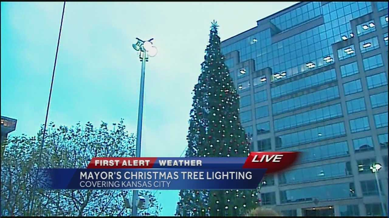 Santa arrives at Crown Center for the season at 10:00 a.m. and Mayor Sly James and Royals General Manager Dayton Moore will flip the switch on the 100-foot-tall Douglas Fir Mayor's Christmas Tree at 5:30 p.m.