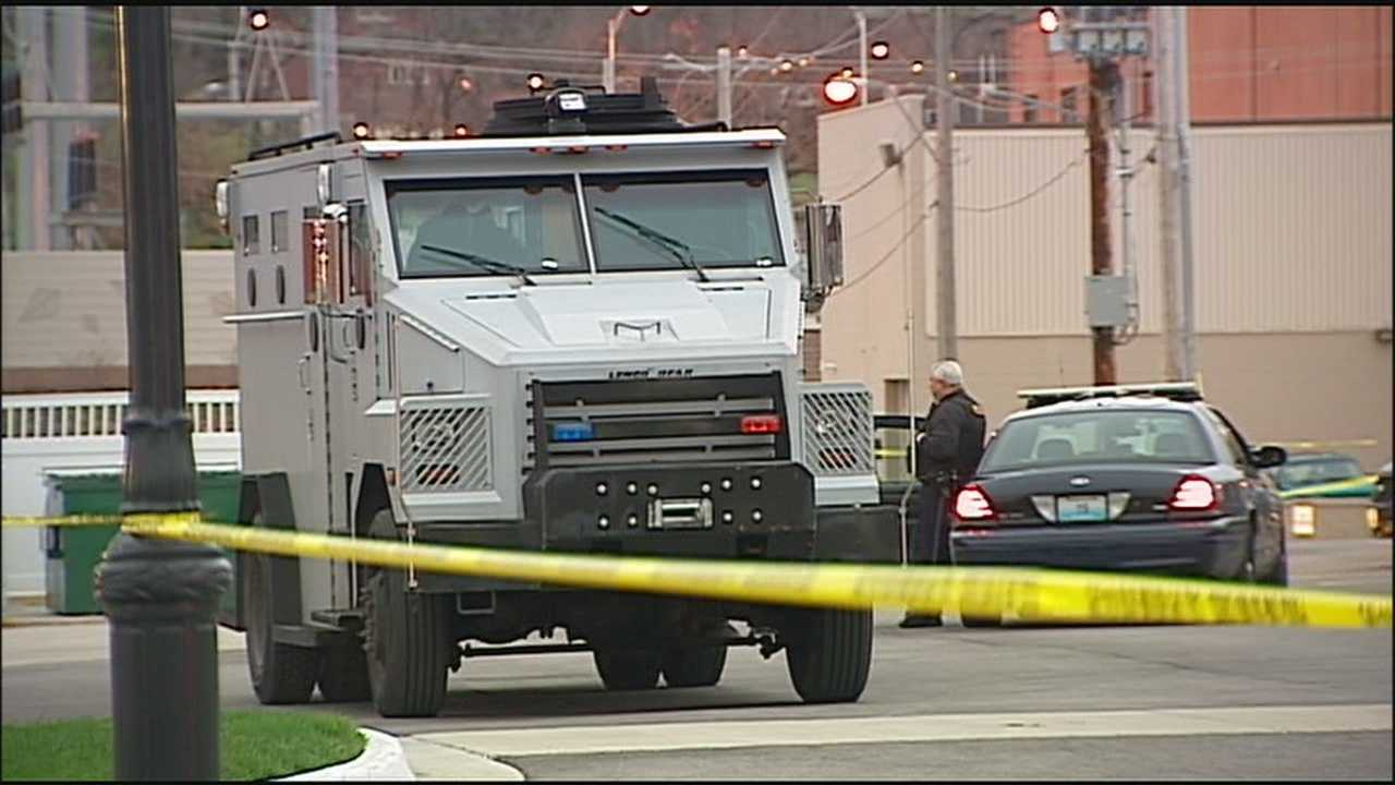 A Kansas City police standoff ends peacefully Wednesday morning near 42nd Street and Troost Avenue.