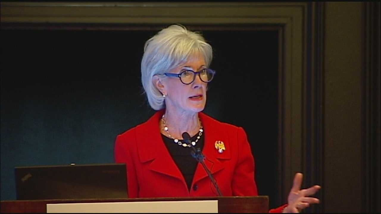 Former Kansas governor and former Health and Human Services Secretary Kathleen Sebelius blasted Kansas and Missouri lawmakers Monday.