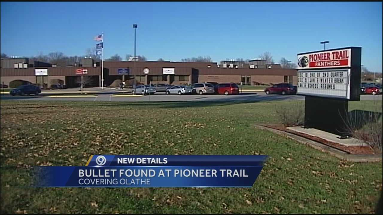 A student found a bullet on a hallway floor at Pioneer Trail Middle School Tuesday, according to the Olathe School District.