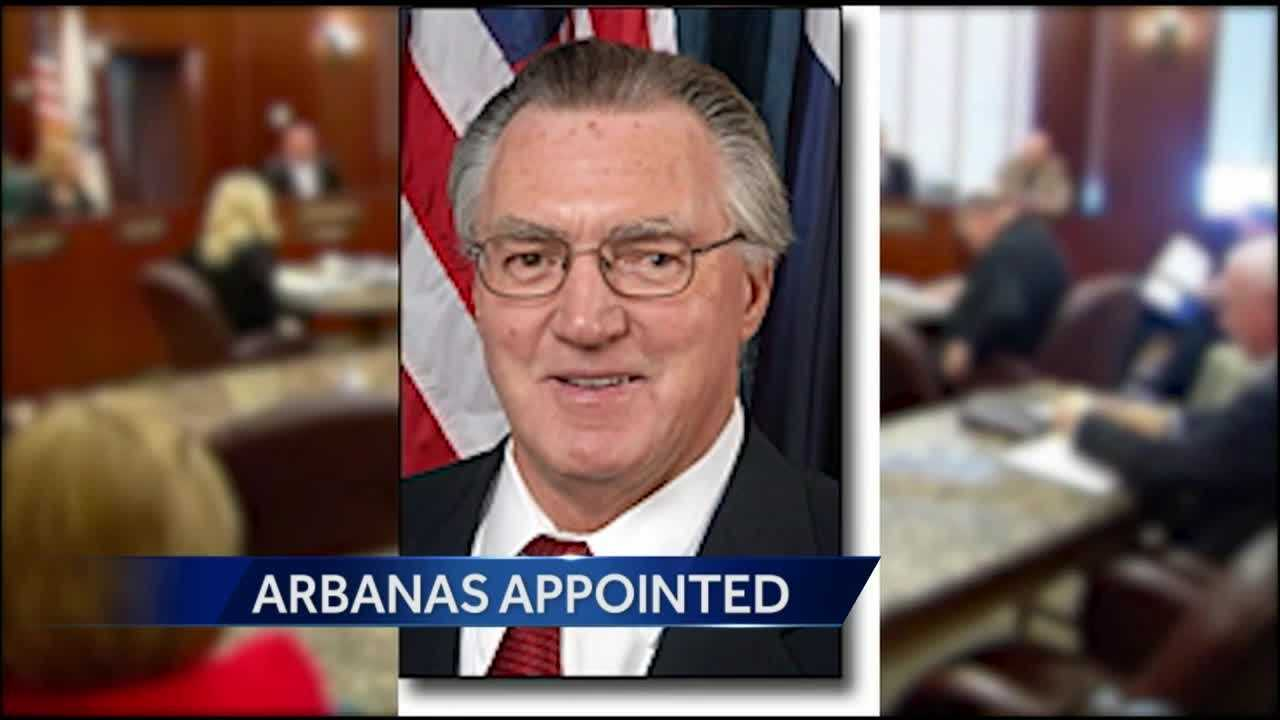 Former longtime Jackson County legislator Fred Arbanas will be the acting county executive while the Legislature picks a permanent replacement, possibly former Royals second baseman Frank White.