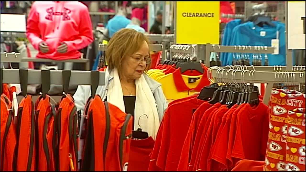 With the Kansas City Chiefs heading to the playoffs on Saturday, stores said they're seeing the same surge in demand for team gear as during the Royals' World Series victory last fall.