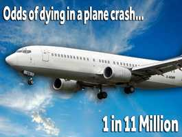 You're more likely to die in a plane crash than you are to win the lottery.