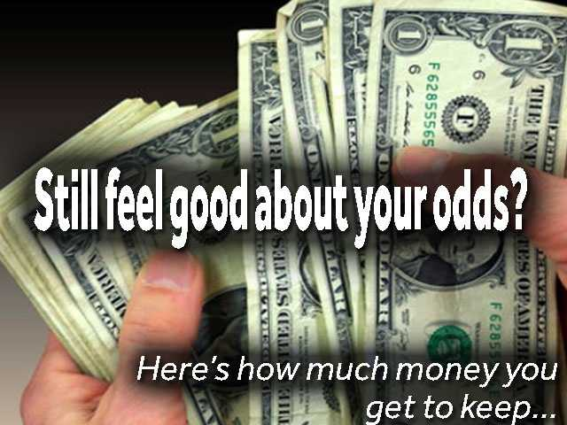 Still feel good about your odds? Let's talk about your take home cash.How much money will you actually end up with?