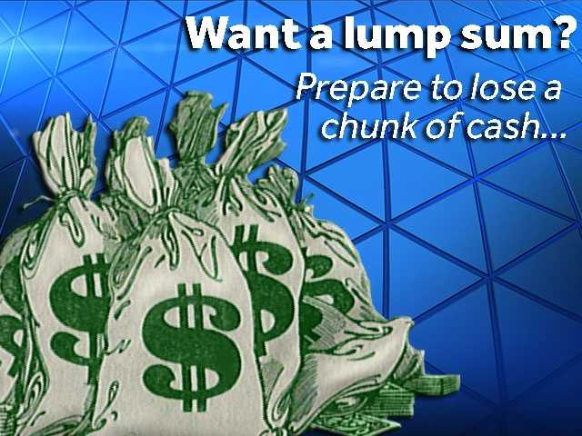 On Tuesday the jackpot jumped to $1.5 billion.Many financial advisers suggest taking the lump sum payout. That means you're going to lose a large chunk of cash...but how much?