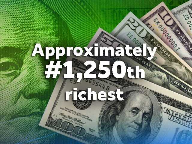 With a net worth of $1.5 billion, you would be approximately the 1,250th richest person in the world.Let's put that into perspective...