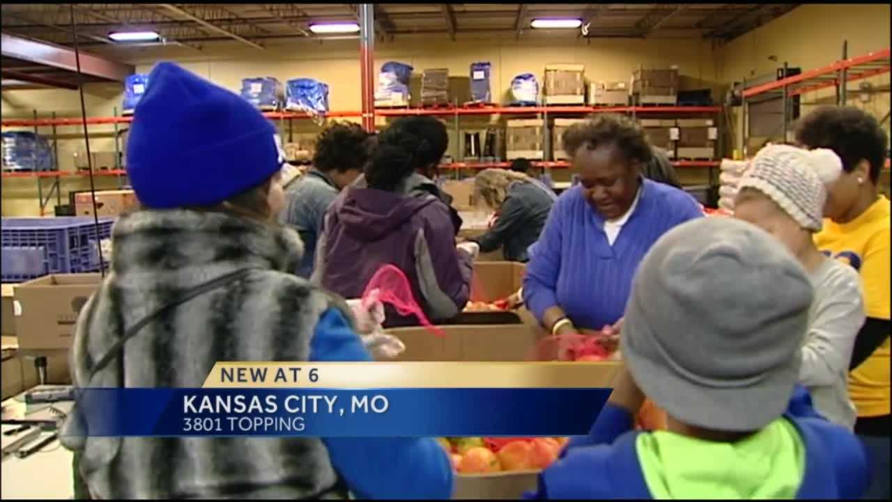 More than 700 people observed the Martin Luther King Day holiday by doing volunteer work at the Harvesters food bank, calling it a day on instead of a day off.