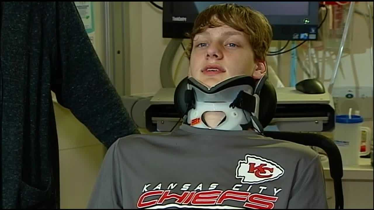 A Kansas City teenager who was partially paralyzed in a car wreck earlier this month is facing more than $40,000 in recovery bills – but his family won't have to foot them alone.