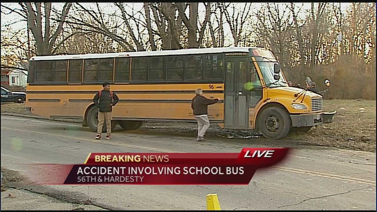 Kansas City police are investigating a crash involving a school bus.