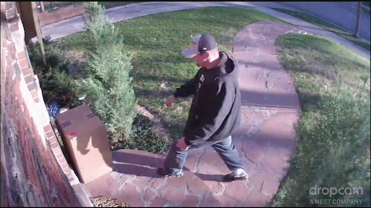 Police hope the public can help them identify a man who was caught on camera stealing packages from outside a Kansas City home.