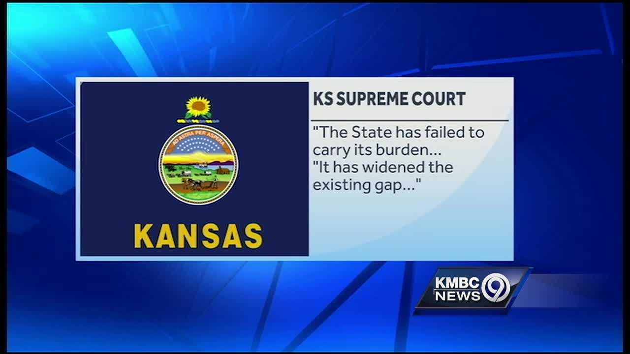 The Kansas Supreme Court ruled Thursday that the state is not funding its schools properly and if the situation isn't fixed soon, it may shut the schools down.