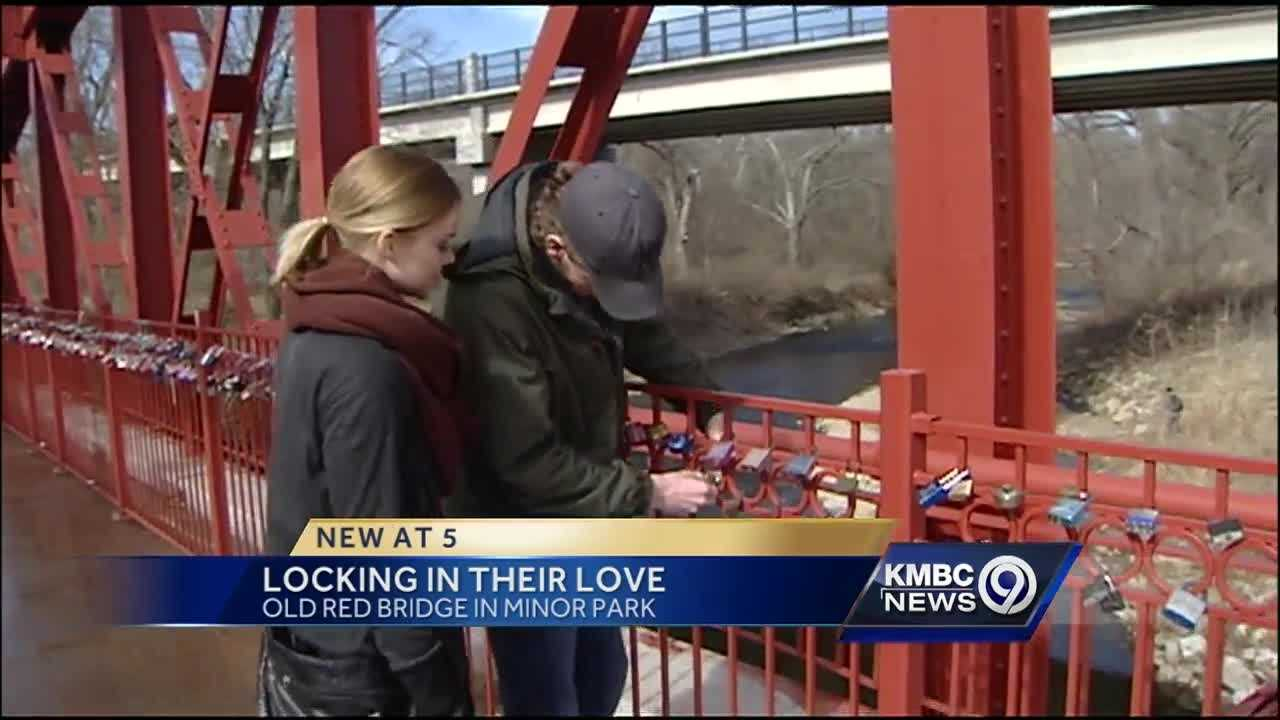 Couples lock in their love on Minor Park's old Red Bridge