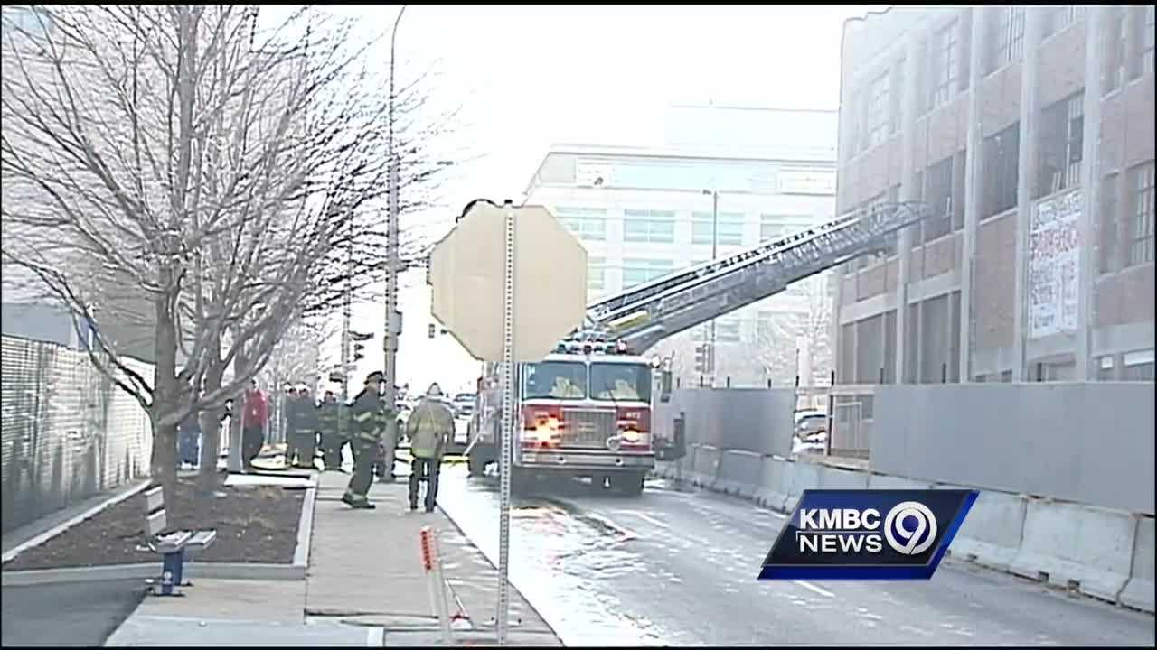 A massive downtown Kansas City renovation project is on hold after a two-alarm fire at the old Pickwick Hotel