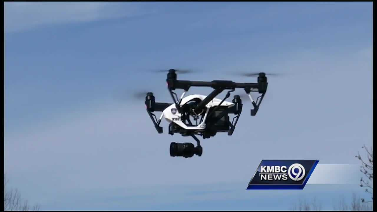 Shawnee police say the search for an armed assault suspect Monday marked the first time the department has ever used an aerial drone to look for anyone.
