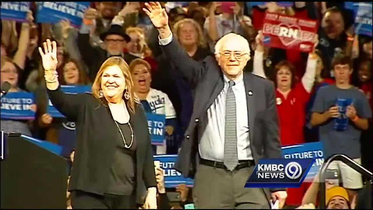 U.S. Sen. Bernie Sanders brought his campaign to Kansas City on Wednesday, speaking to an estimated crowd of 7,000 people – some of whom waited in line outside Bartle Hall for hours.