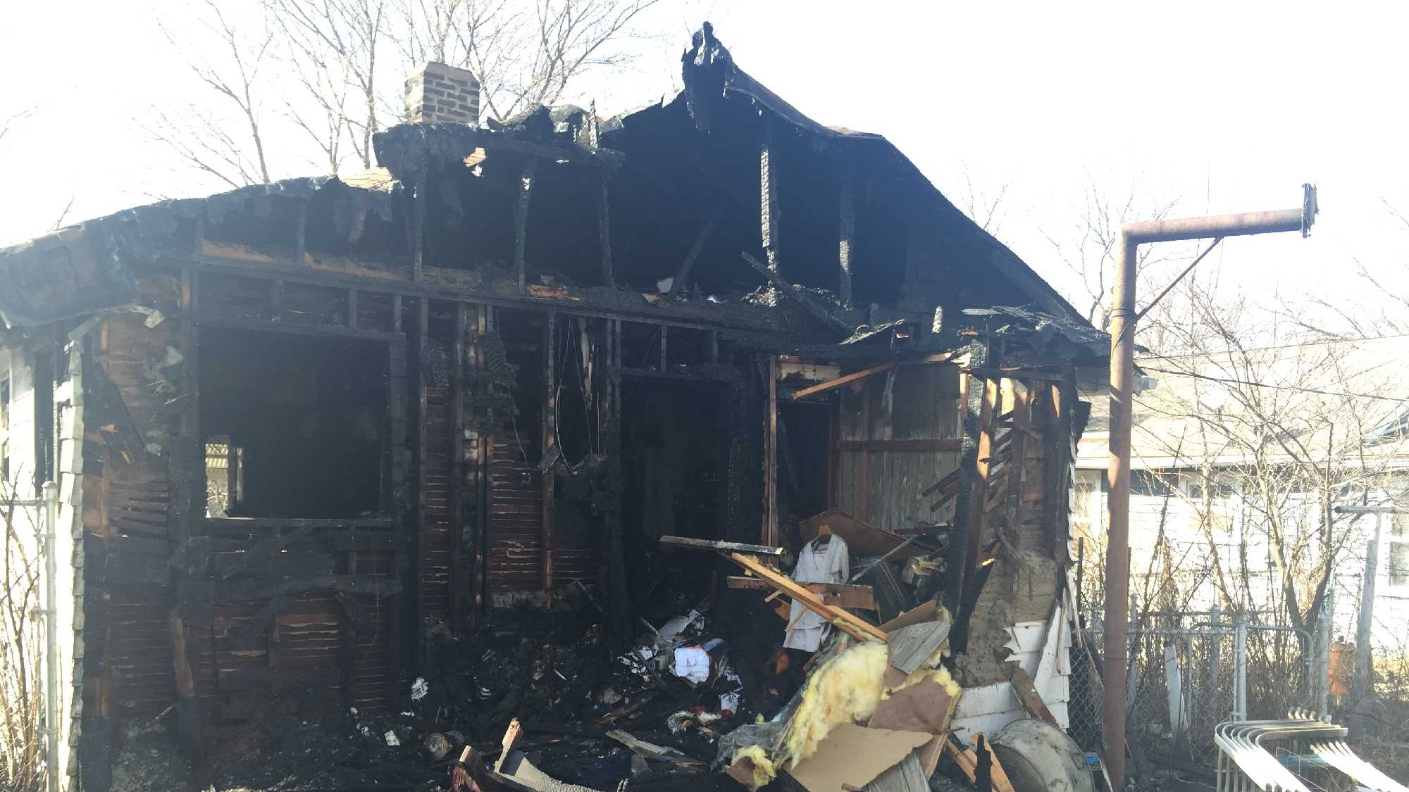 An Independence home, located at 523 S. Cedar Ave., was destroyed in a blaze Sunday afternoon.