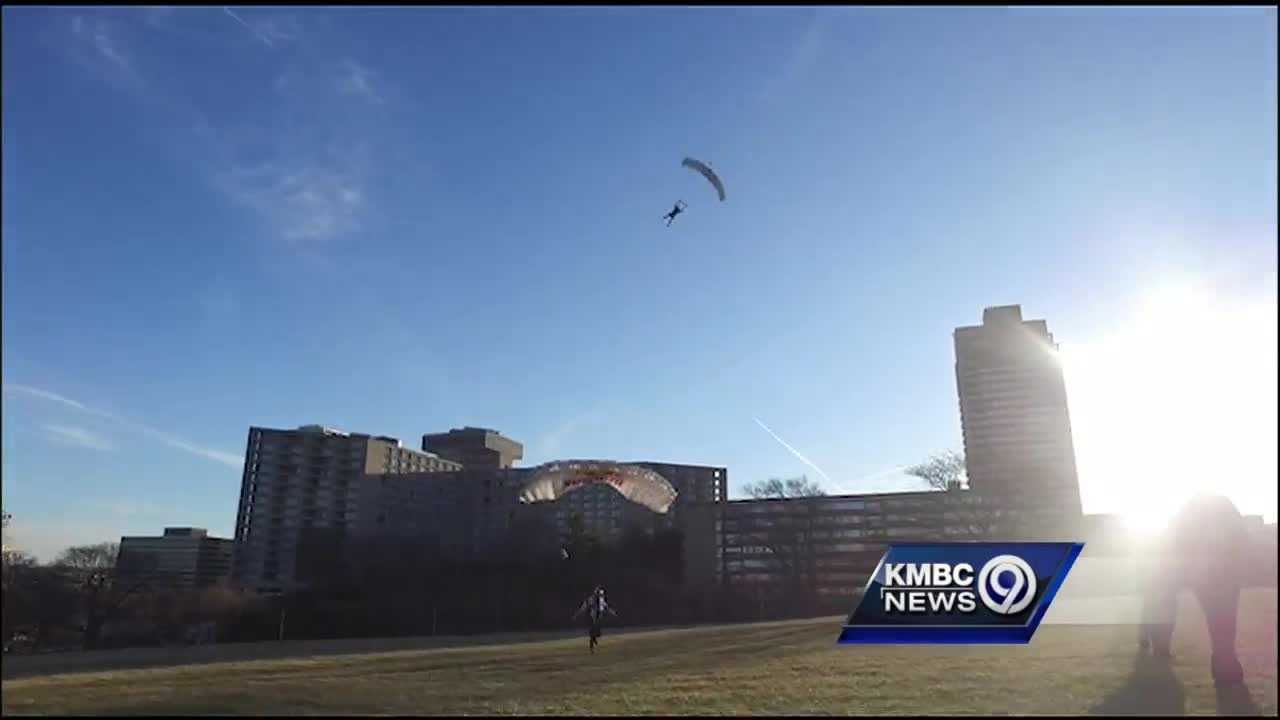 The Red Bull Air Force leaps into Kansas City to celebrate Leap Day.