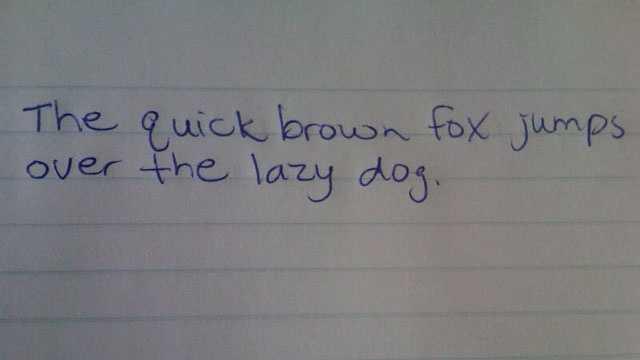 Handwriting changes