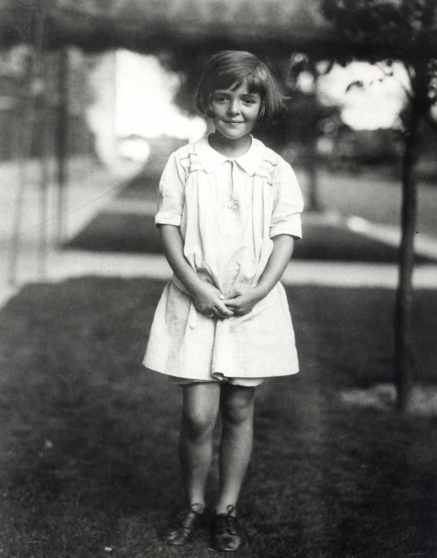 Nancy Davis, age 6.