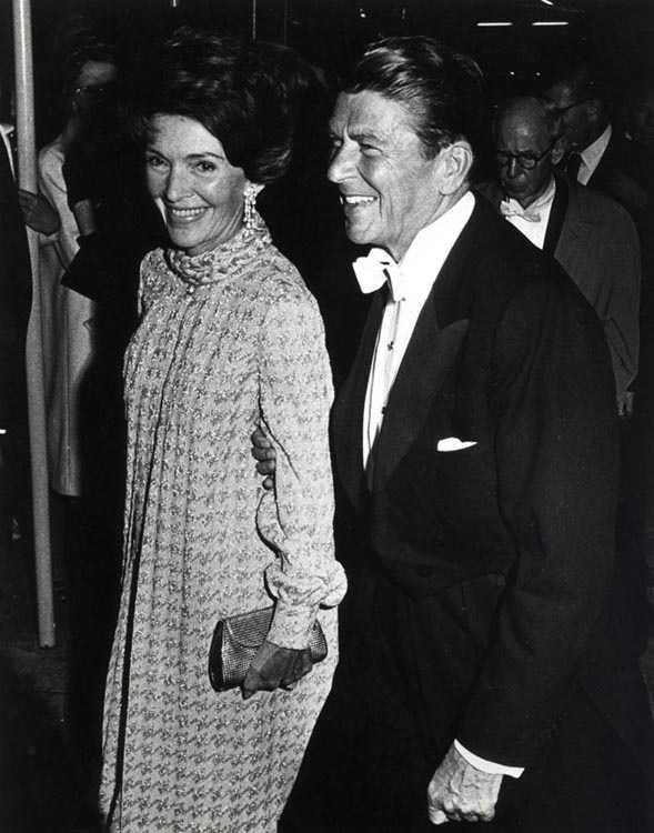 Gov. Ronald Reagan and Nancy Reagan at the Governor's Inaugural Ball in Sacramento, California (January 1971)