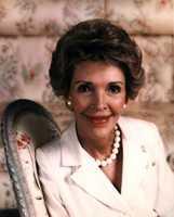 First Lady Nancy Reagan's official portrait. (Feb. 24, 1988)