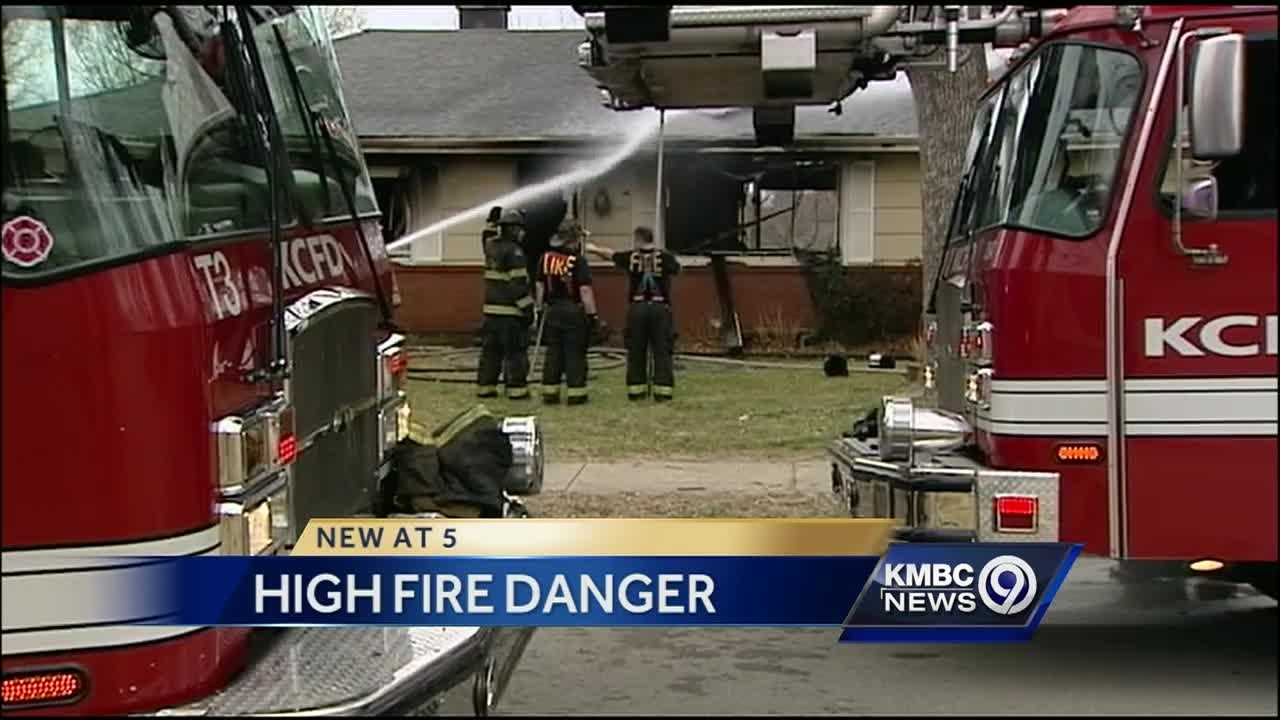 Strong wind caused an extra headache for firefighters working to put out house fires in the Kansas City metropolitan area.