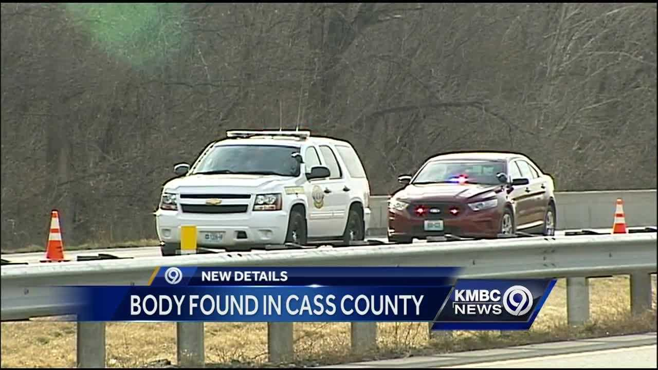 A body was found along a highway in Cass County early Sunday morning.