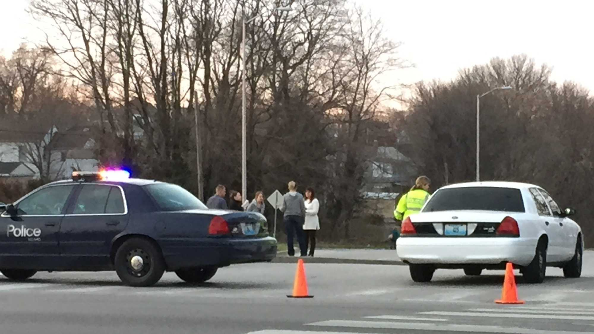One person was killed in a crash Wednesday afternoon in Kansas City. Authorities said a GMC pickup truck and Chevrolet Impala collided at Independence and Chestnut avenues. Authorities said speed was a factor in the cause of the crash.