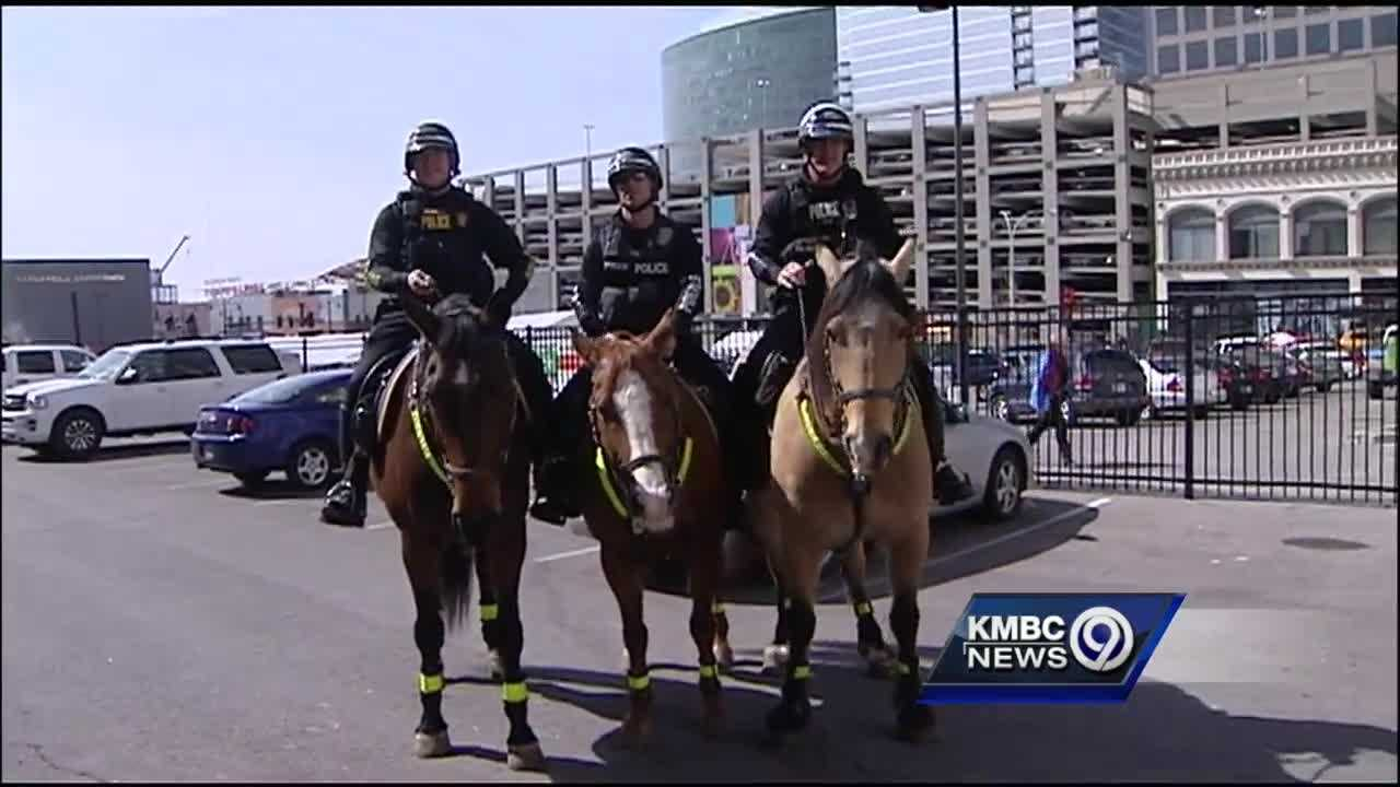 Parking and crowd control are a big challenge at the Big 12 Men's Basketball Championships, but the Kansas City Police Department's Mounted Patrol works to help solve both problems.