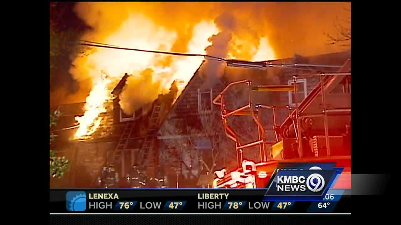 Three people are getting help from the Red Cross after a massive fire destroyed their home, a building that dates back to the earliest days of Kansas City.
