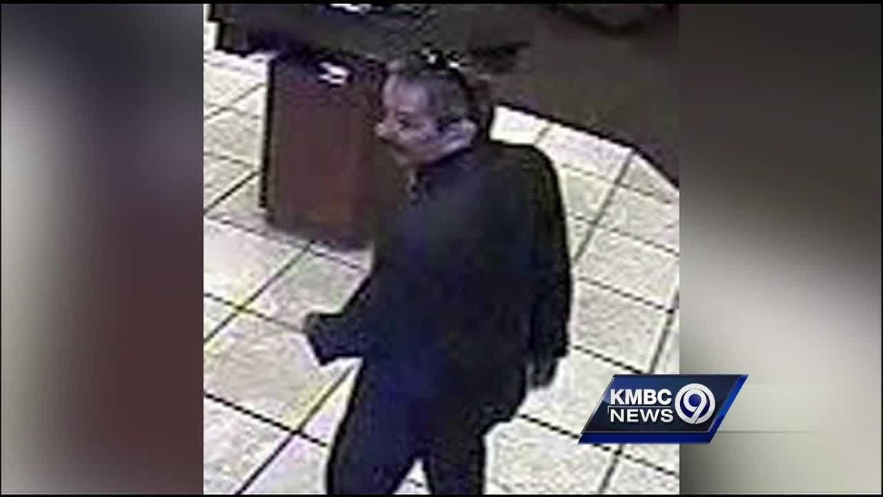 Police continue to search for a man who robbed two Raymore businesses in the middle of the day.