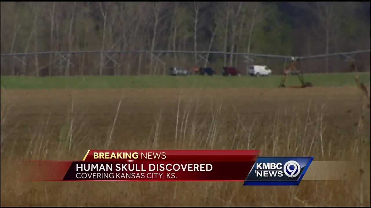 Two mushroom hunters found a human skull and other bones Wednesday in Kansas City, Kansas, police say.