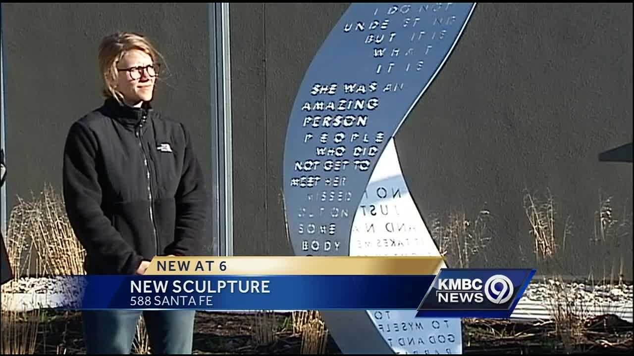 A new sculpture has been installed at the Johnson County Justice Annex Building.