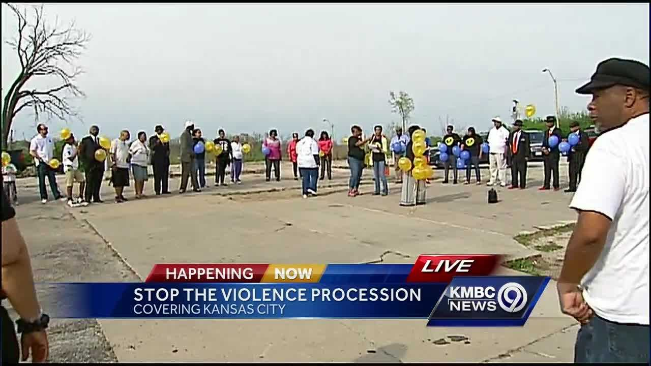 A procession down Prospect Avenue and a subsequent ceremony honored the victims of violent crimes Sunday afternoon.