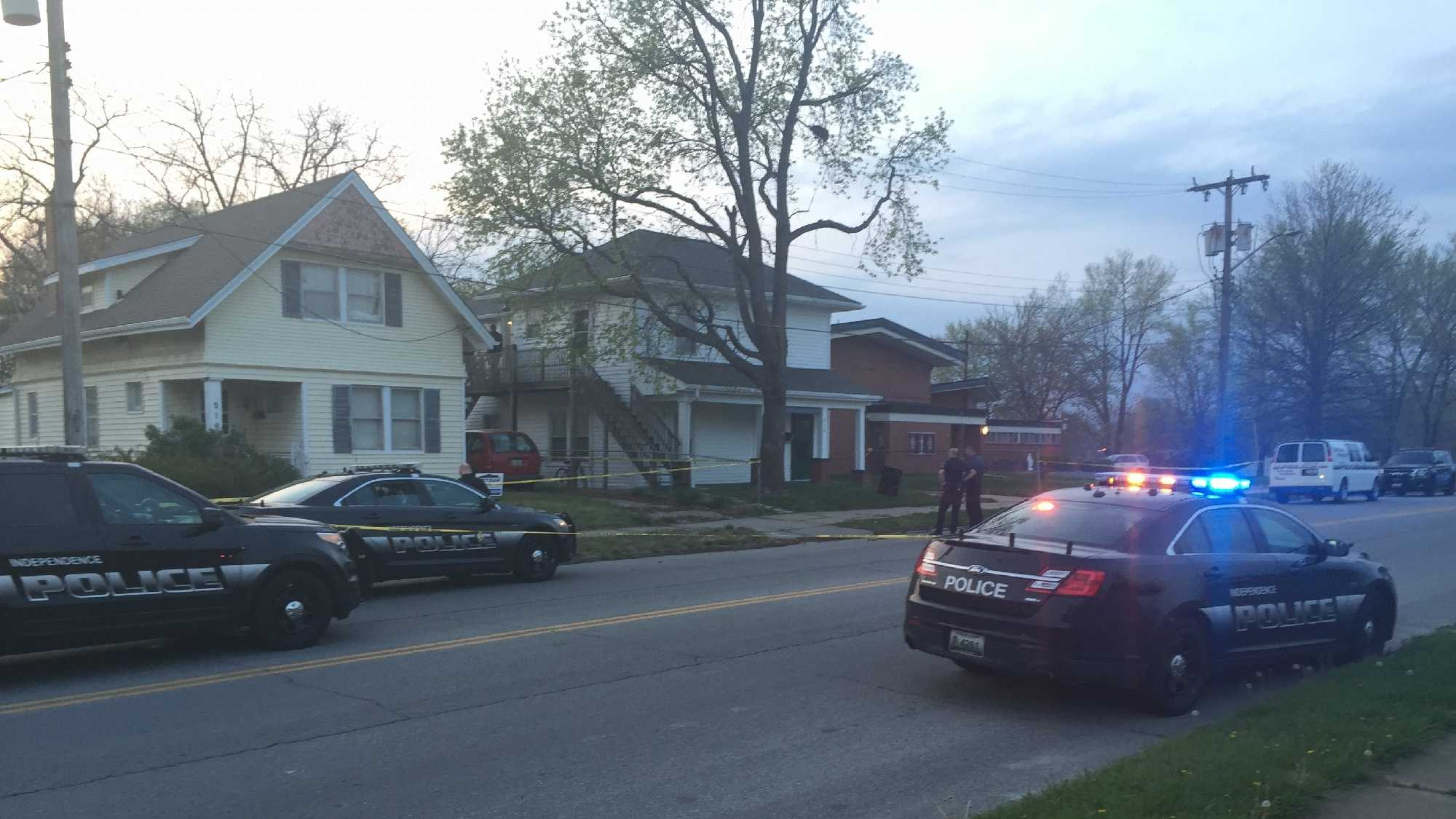 Independence police are investigating a shooting and stabbing Sunday.