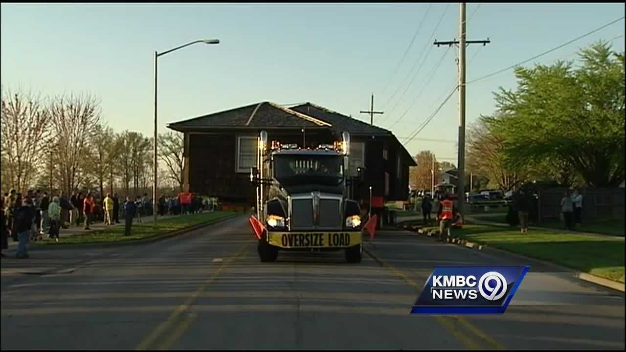 A house that's been a big piece of Johnson County history became a mobile home Tuesday night.