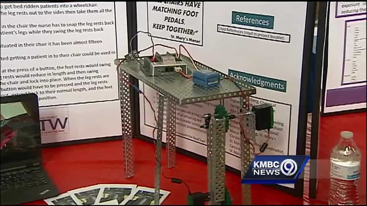 Some of the brightest high school seniors in the Kansas City area are showing off engineering and science projects that tackle real-life challenges.