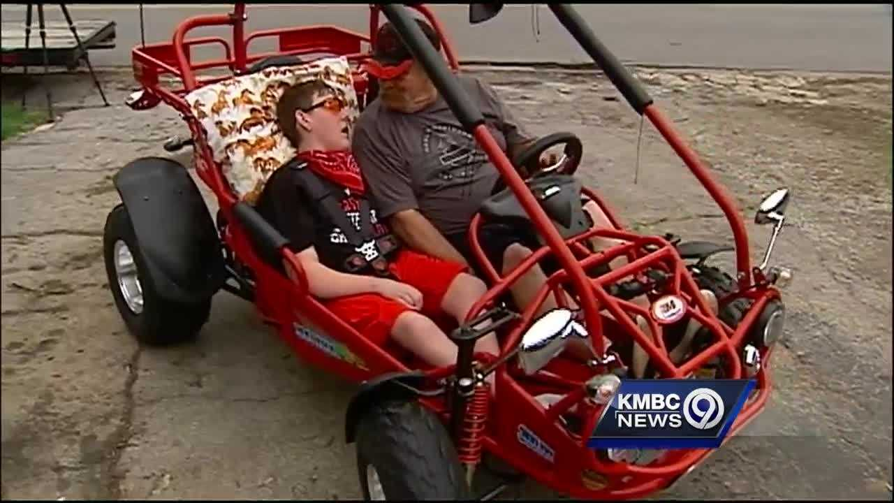 A disabled teenager whose special dune buggy was stolen from outside his home has a new one tonight.