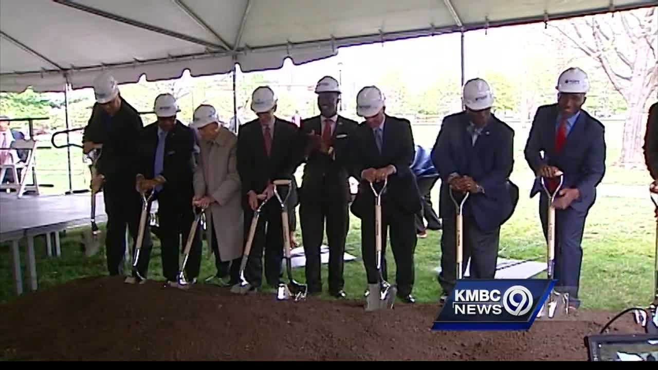 A groundbreaking ceremony in Kansas City Wednesday took another step toward turning Parade Park into a field of dreams for young baseball players.