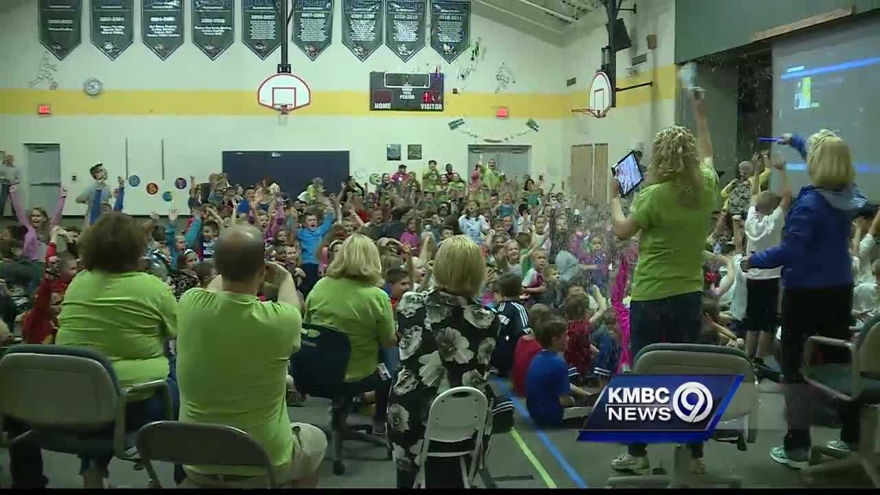 Arbor Creek Elementary learns that it has been named the Kindest School in the Kansas City area.